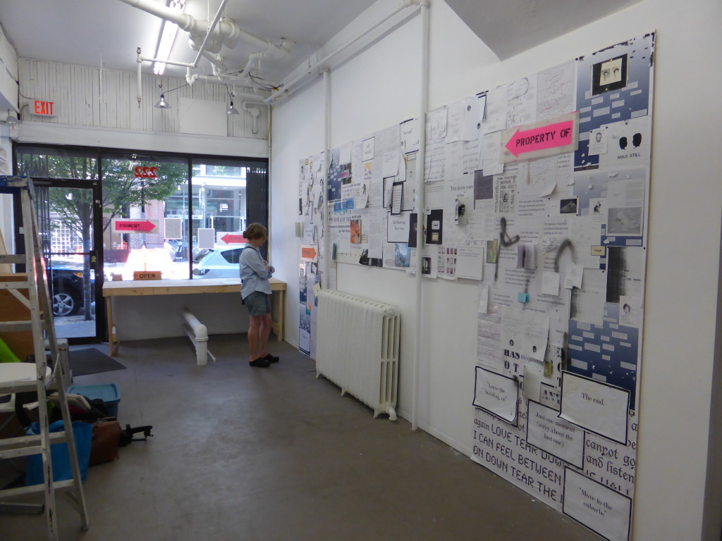 The installation view of Hoarding. ardings