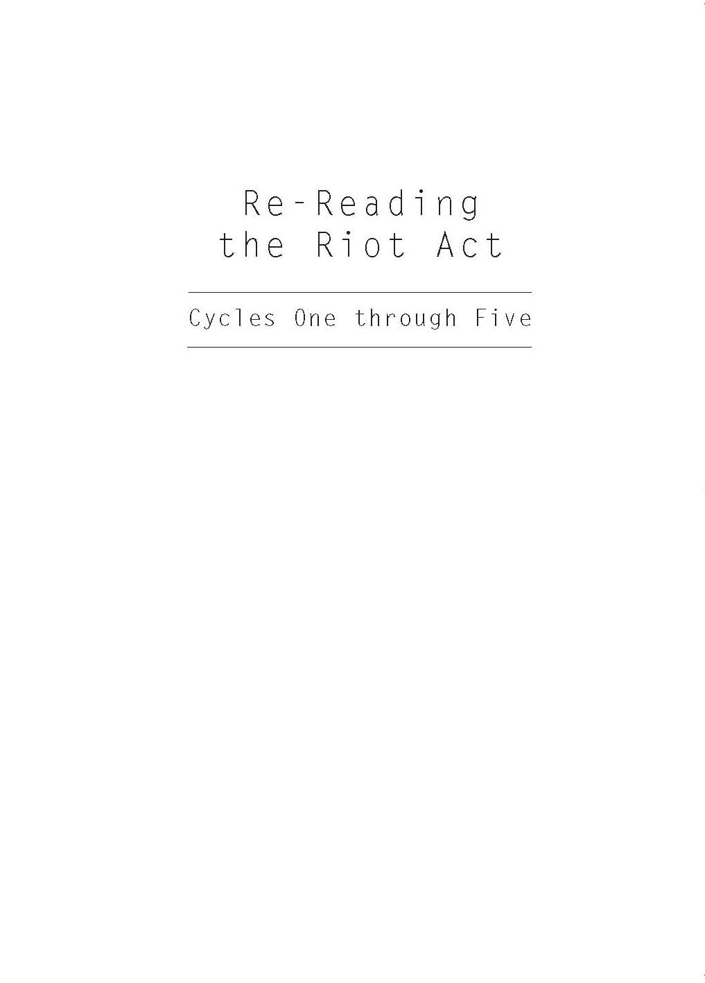 Cover of Re-reading the Riot Act